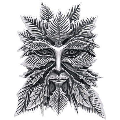 White Bronze Green Man Pendant