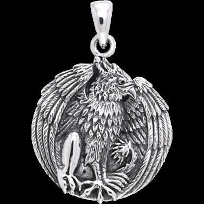 White Bronze Gryphon Pendant