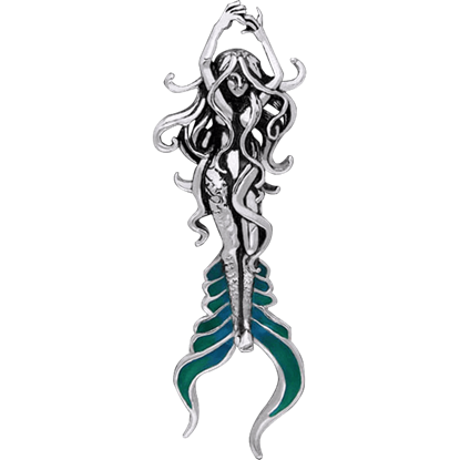 White Bronze Atlantis Mermaid Pendant