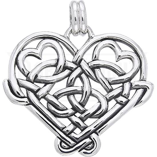Celtic Eternal Knot Heart Pendant