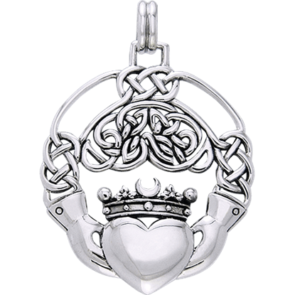 Celtic Claddagh Eternal Knot Pendant
