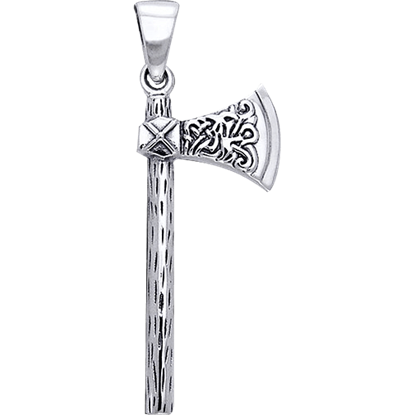 White Bronze Viking Axe Pendant