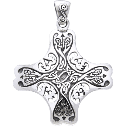 Celtic Arrowed Cross Pendant