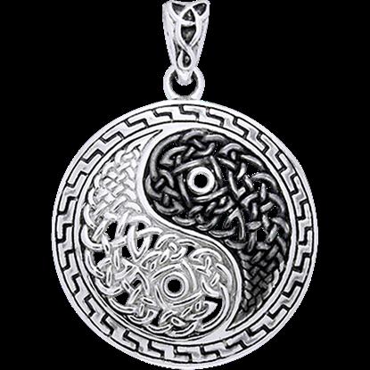 Celtic Knotwork Yin Yang Pendant