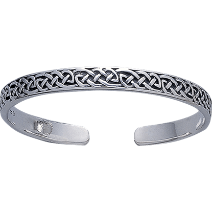 White Bronze Celtic Knot Bangle Bracelet