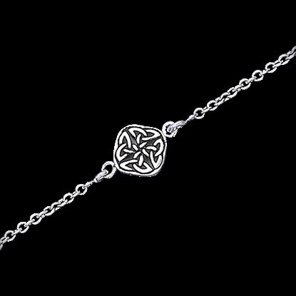 Celtic Quaternary Knot Anklet