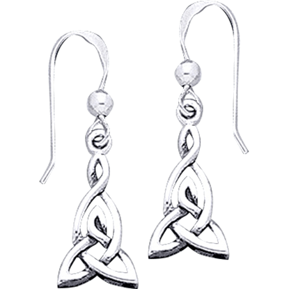 Celtic Extended Triquetra Earrings
