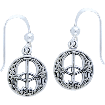 White Bronze Chalice Well Earrings