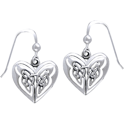 Eternal Heart Celtic Knot Earrings