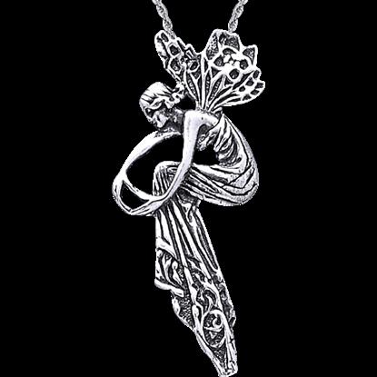White Bronze Fancy Fairy Pendant