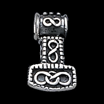 White Bronze Thor Hammer Pendant