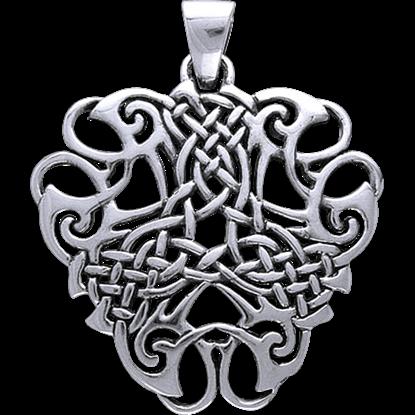 White Bronze Thread of Life Pendant