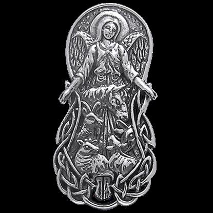 Celtic Angel of Animals Pendant