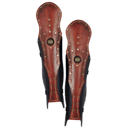 Praetorian Leather Knee Greaves