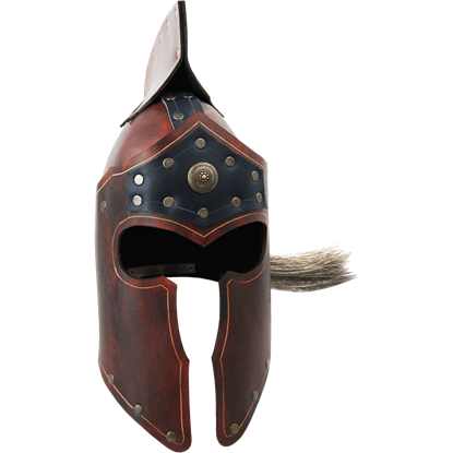 Praetorian Leather Crest Helm