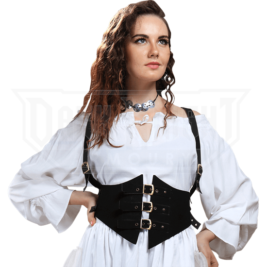 8dc1cde7b3 Faux Leather Steampunk Harness - DC1214 from Leather Armor