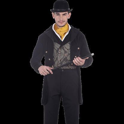 Black Velvet Gentlemans Tailcoat
