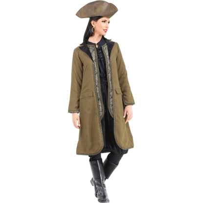 Angelica Suede Privateer Coat