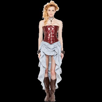 Steampunk Pinstripe Skirt