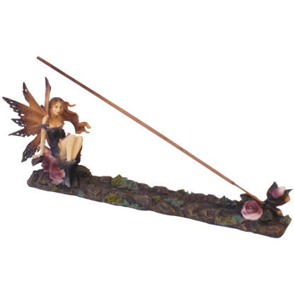 Fairy With Roses Incense Burner