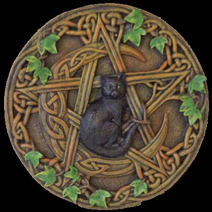 Cat Pentagram Plaque