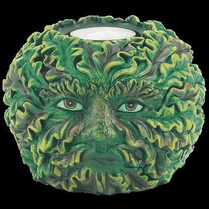 Green Man Candleholder
