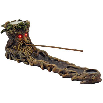 Green Man Incense Burner With LED Eyes