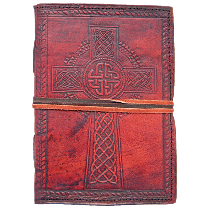 Celtic Cross Leather Journal