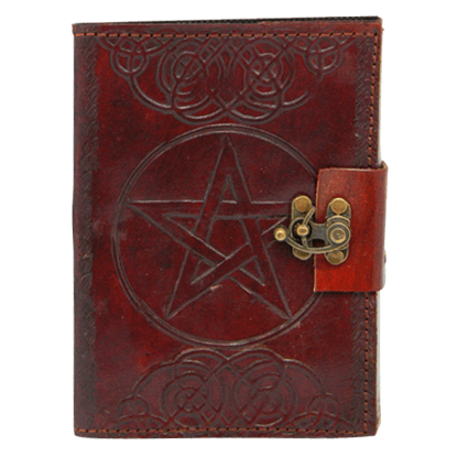 Embossed Leather Pentacle Journal With Lock