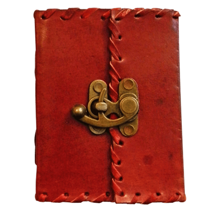 Adventurers Leather Journal with Lock