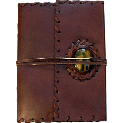 Tigers Eye Embossed Leather Journal