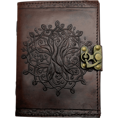 Brown Tree of Life Embossed Leather Journal