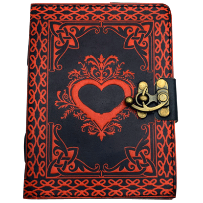 Black and Red Heart Journal