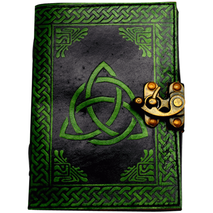 Black and Green Leather Triquetra Journal