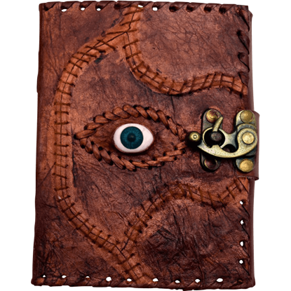 Sacred Eye Embossed Leather Journal