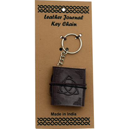 Triquetra Leather Embossed Journal Key Chain