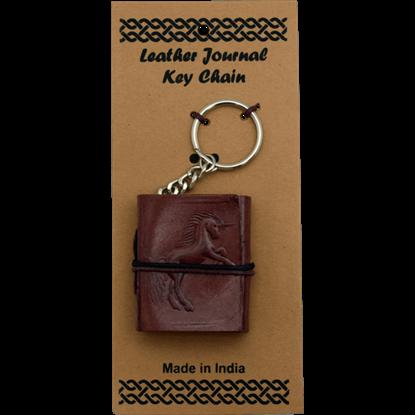 Unicorn Leather Embossed Journal Key Chain