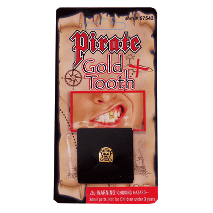 Pirate's Gold Skull Tooth Cap