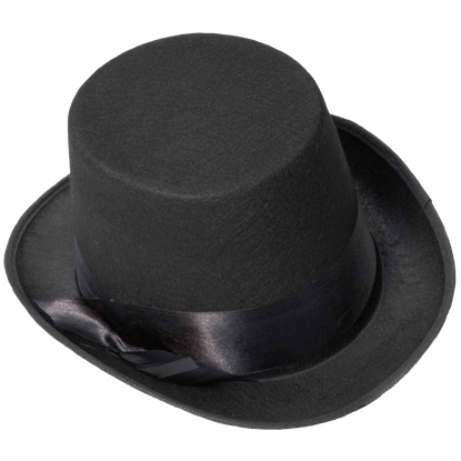 Black Bell Topper Hat