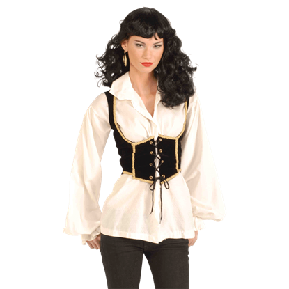 Women's Black Pirate Vest