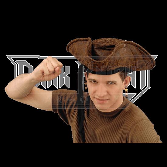 Beaded Pirate's Tricorn Hat
