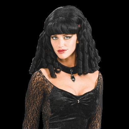 Black Barrel Curls Wig