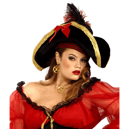 Lady's Ornate Buccaneer Hat