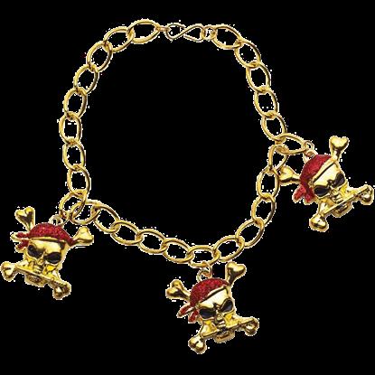 Red Glitter Pirate Bracelet