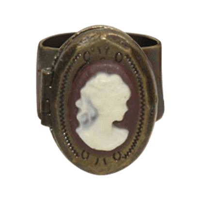 Steampunk Bronze Cameo Ring
