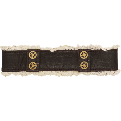 Steampunk Leather And Lace Choker