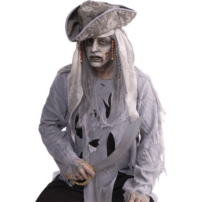 Ghostly Pirate Wig
