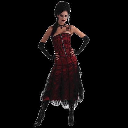 Black Rose Lace Corset