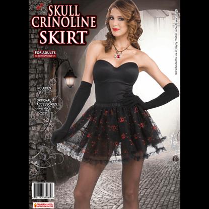 Gothic Skull Crinoline Skirt