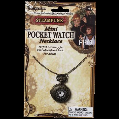 Steampunk Mini Pocket Watch Necklace
